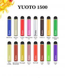 YUOTO 1500 Puffs Disposable Vape Stiks Wholesale